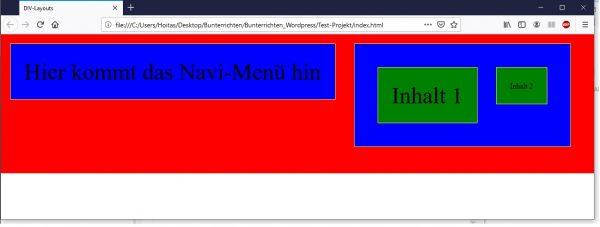 CSS über Klassen in HTML einfügen