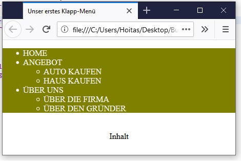 CSS Drop-Down-Menü 3