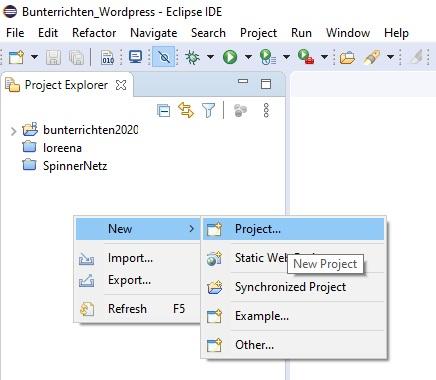 Eclipse neues Projekt