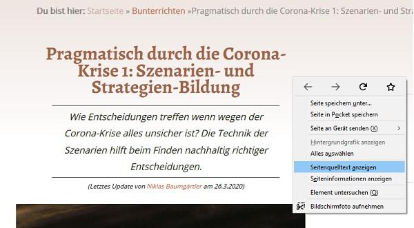 Firefox Sourcecode anzeigen