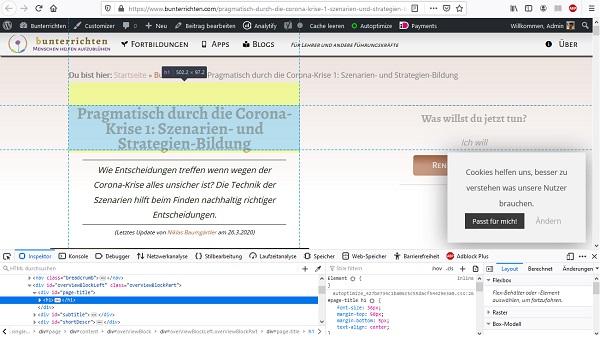 Firefox Webseiten-Inspektor 2