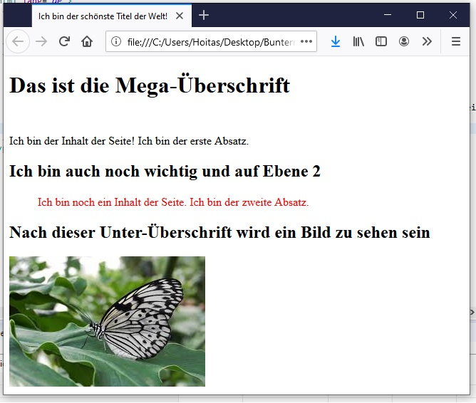 HTML Bilder einfügen