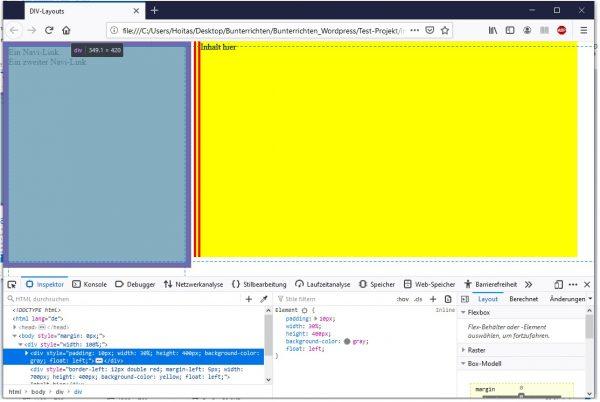 HTML 2 Spalten 2