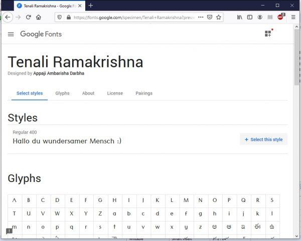 HTML Schriftarten Google Fonts 2