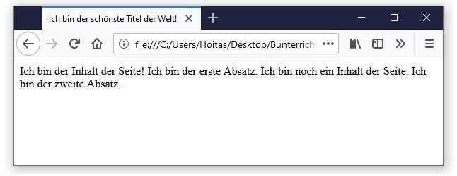 HTML Text-Formatierung