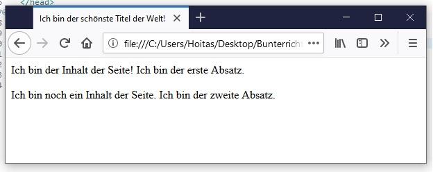 HTML Text-Formatierung 2