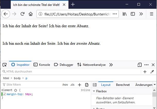 HTML Text-Formatierung 5