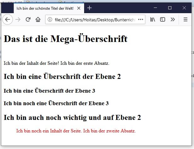 HTML Text-Formatierung 7