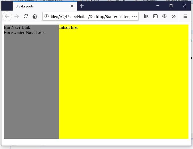 2 Spalten mit CSS