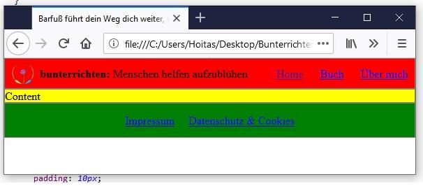 Webseite programmieren HTML und CSS 6
