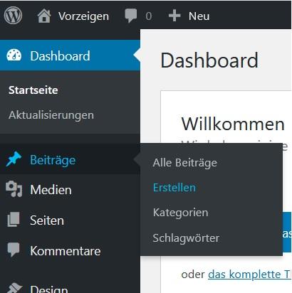 WordPress Beiträge erstellen