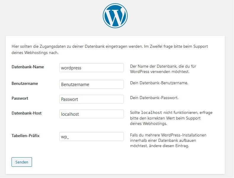 WordPress manuelle Installation 2