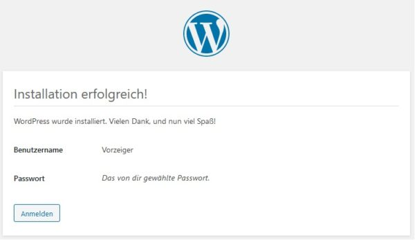 WordPress manuelle Installation 3