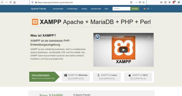 XAMPP installieren
